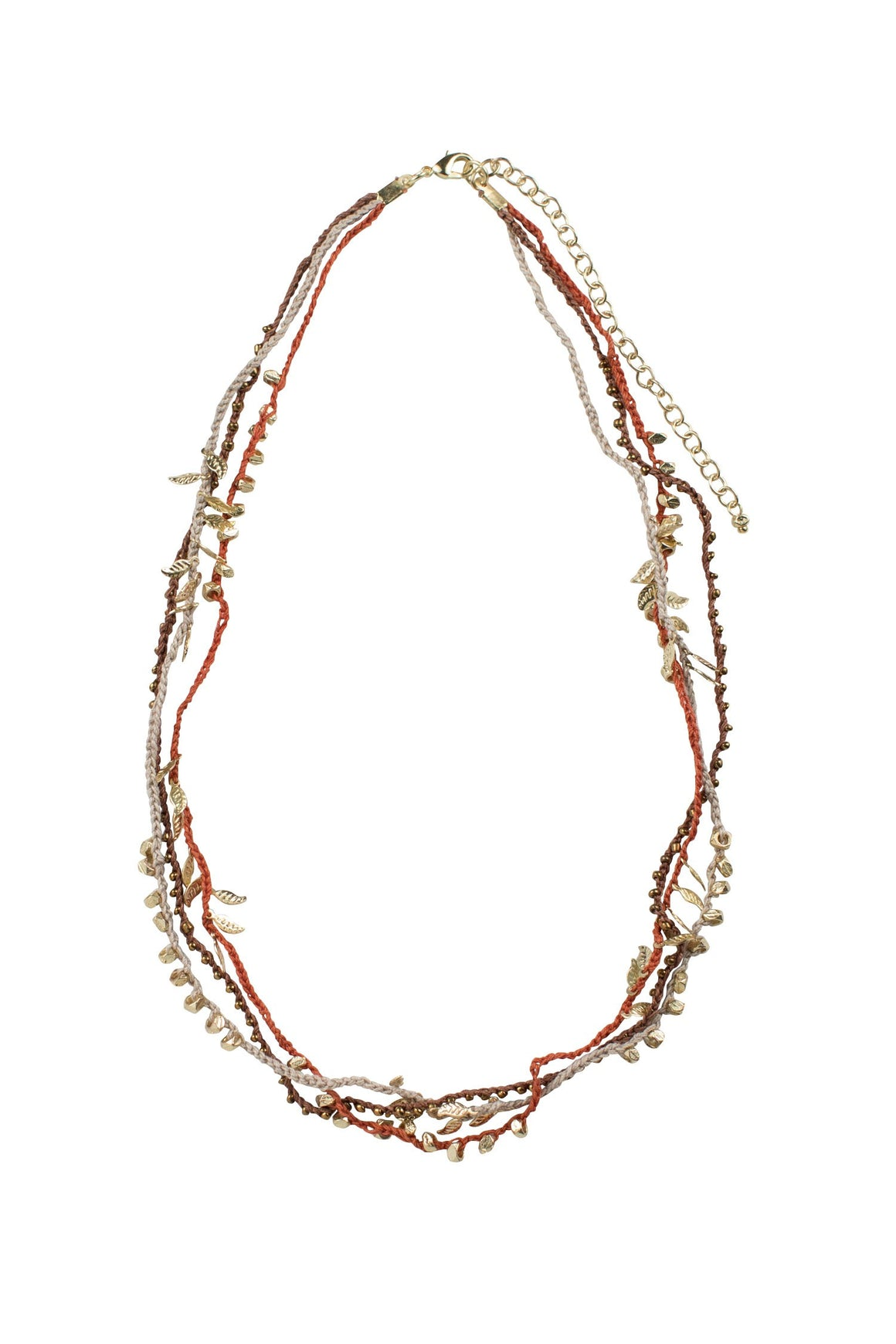 Braided Bits Crochet and Beads Necklace Handcrafted in India