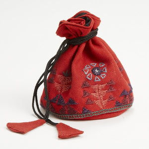 Mystic Hand-Embroidered Gift Jewelry Bag Handcrafted in India
