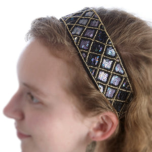 Geometric Edges Sparkle Headband