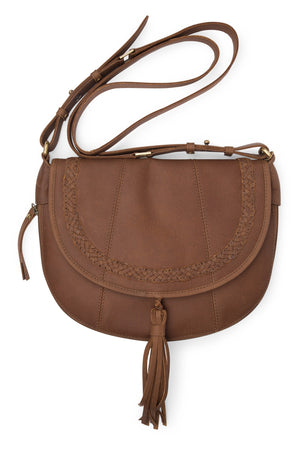 Eco-Leather Saddle Purse
