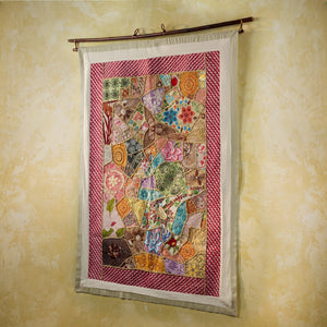 Sari Mosaic Tapestry Handcrafted in Peru