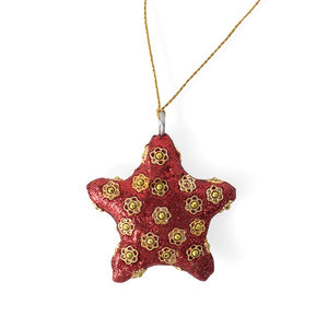 Flower Bead Star Ornament Handcrafted in India