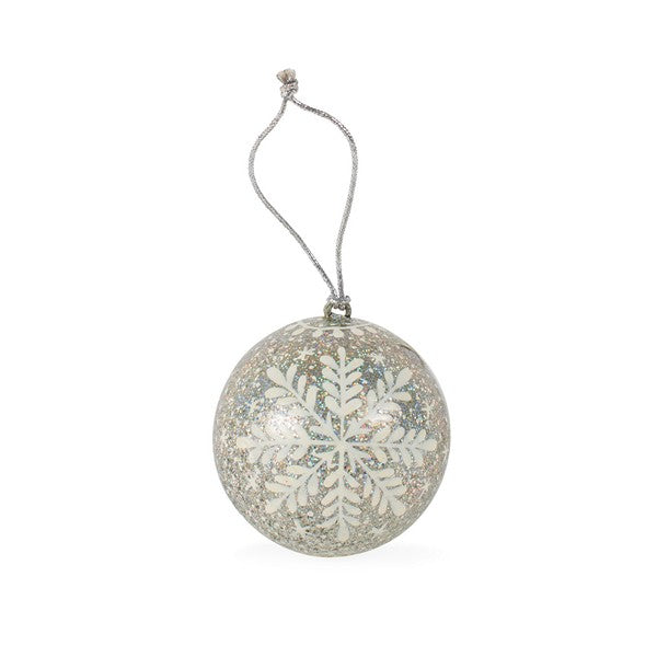 Glitter Snowflake Ornament ~ Global Artisan (Global Fair Trade)