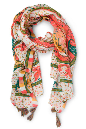 Afternoon in Mumbai Cotton Scarf