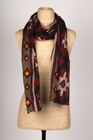 Tribal Tales Cotton Scarf Handcrafted in India