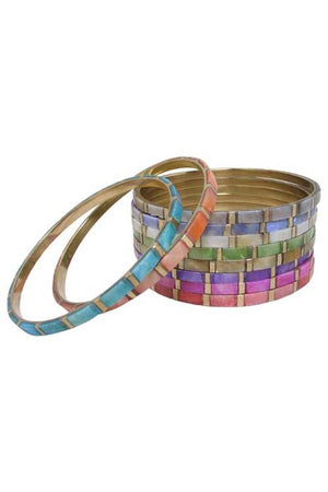 Brass Bollywood Bangle Bracelets Handcrafted in India