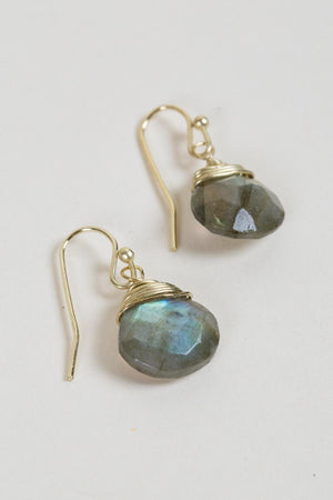 Labradorite Intuition Earrings Handcrafted in India