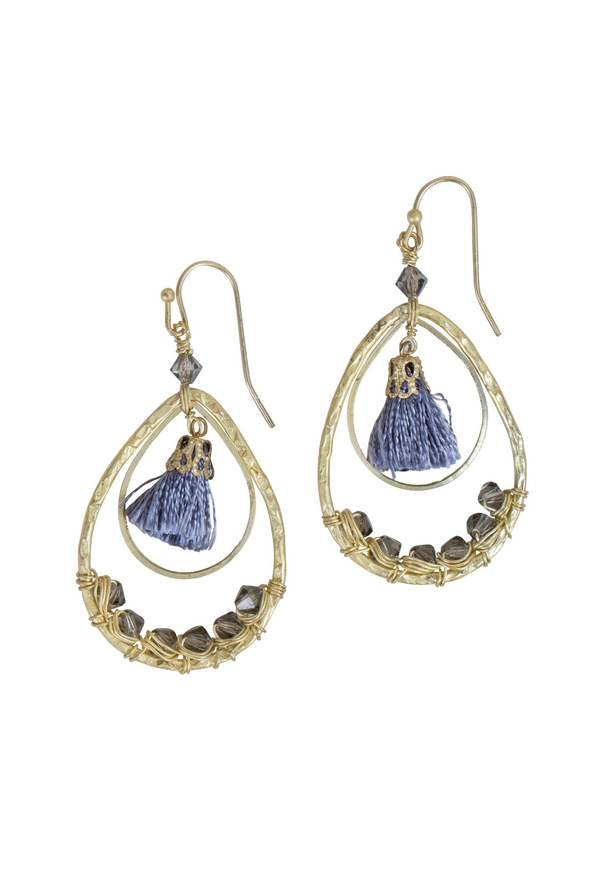 Tassel Teardrop Bead Occasion Earrings