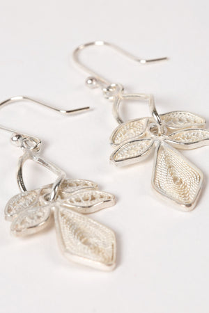 Lily Filigree Earrings Handcrafted in Indonesia