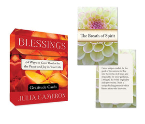 Blessings Gratitude Cards: 64 Ways To Give Thanks For The Peace & Joy In Your Life (64-card deck; Julia Cameron)