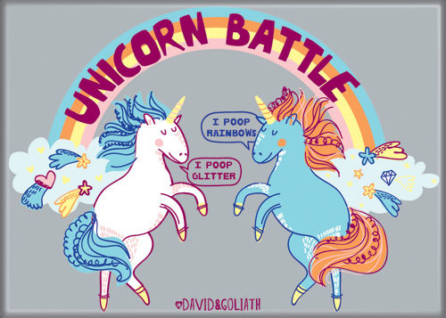 Unicorn Battle Magnet