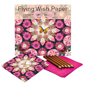 PINK BUTTERFLY Large Flying Wish Paper Kit