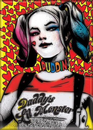 Daddy's Lil Monster Harley Quinn Suicide Squad Magnet