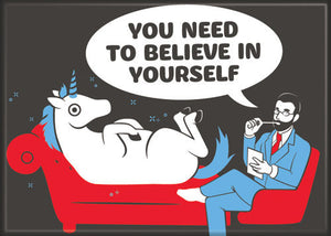 Unicorn Believe In Yourself Shrink magnet