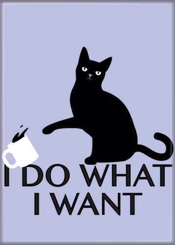 I Do What I Want Cat Magnet