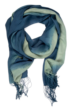 Marshlands Silk Scarf Handcrafted in Laos