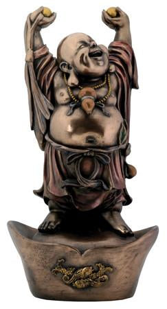 Bronze Finish Buddha on Nugget