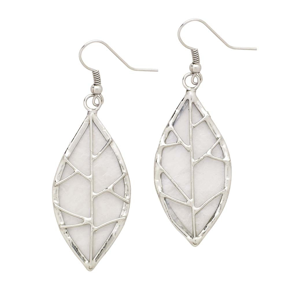Leaf Capiz Shell Earrings