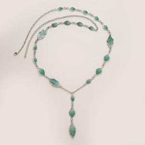 Precious Sage Capiz Shell Necklace Handcrafted in Philippines