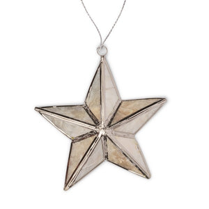 Bright Star Capiz Ornament ~ Global Artisan (Global Fair Trade)