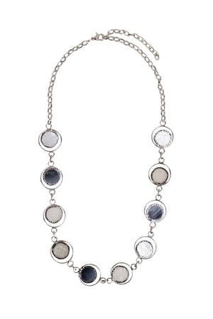 Moon Phase Capiz Shell Necklace