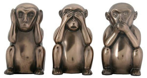 Hear, See, and Speak No Evil Monkeys Figurine Set