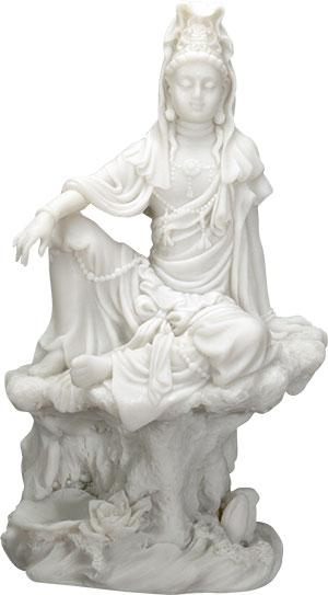 Water & Moon Kuan Yin Figurine
