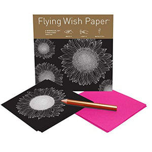 SUNFLOWERS Mini Flying Wish Paper Kit