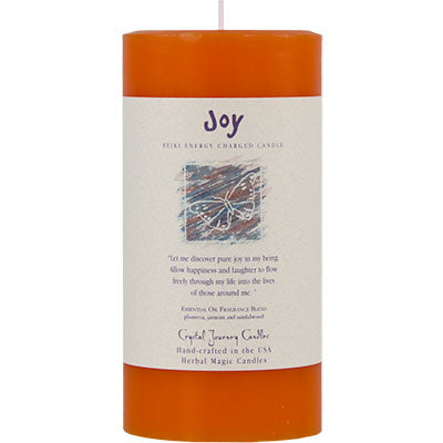 Reiki Infused Herbal Pillar Candles by Crystal Journey Candles