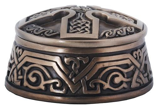 Bronze Finish Celtic Cross Trinket and Jewelry Box