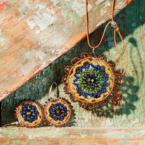 Medallion Beaded Necklace Handcrafted in Guatemala