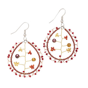 Folktale Tree Earrings Handcrafted in Guatemala