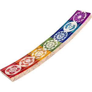 Chakras Symbols ~ Soapstone Incense Holder