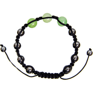 Magnetic Hematite Bracelet ~ with Green Aventurine