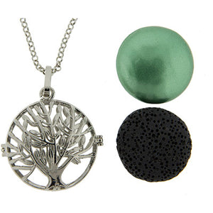Aromatherapy Lava Necklace ~ Tree of Life Pendant
