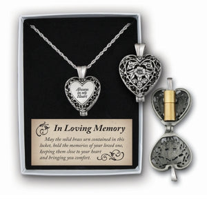 Always in My Heart Locket with Ashes Holder