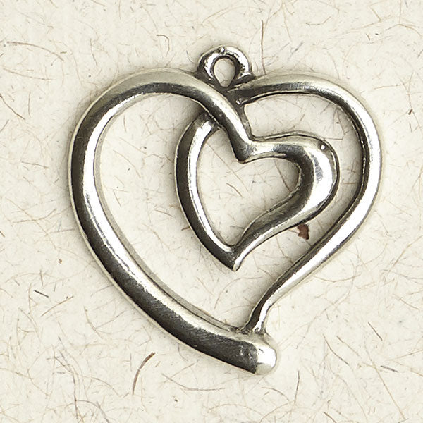 Entwined Heart Pewter Necklace