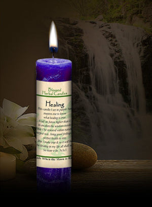 Healing ~ Blessed Herbal Candle