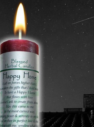 Happy Home/Peace and Serenity ~ Blessed Herbal Candle