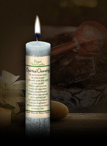 Spiritual Cleansing ~ Blessed Herbal Candle