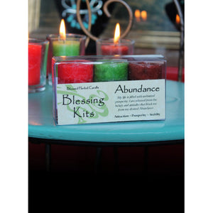 Abundance ~ Blessed Herbal Candles Blessing Kit