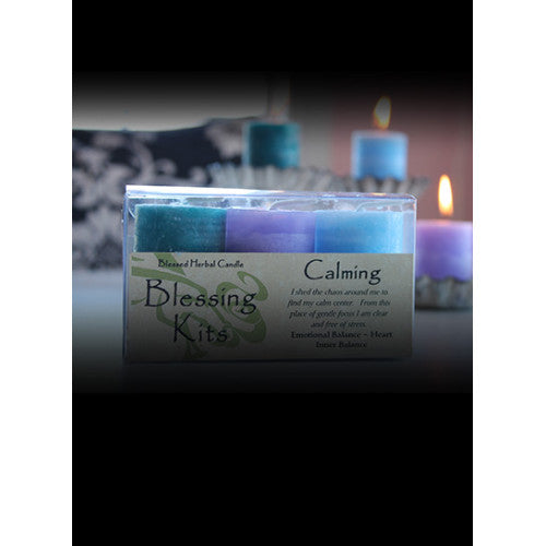 Calming ~ Blessed Herbal Candles Blessing Kit