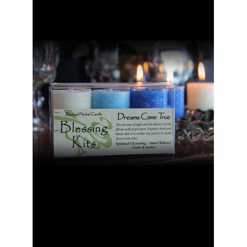 Dreams Come True ~ Blessed Herbal Candles Blessing Kit
