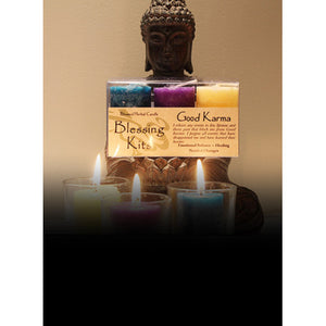 Good Karma ~ Blessed Herbal Candles Blessing Kit