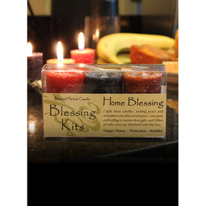 Home Blessing ~ Blessed Herbal Candles Blessing Kit