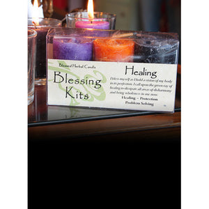 Healing ~ Blessed Herbal Candles Blessing Kit