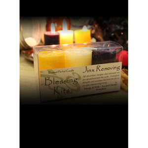 Jinx Removing ~ Blessed Herbal Candles Blessing Kit