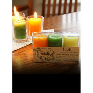 Luck ~ Blessed Herbal Candles Blessing Kit
