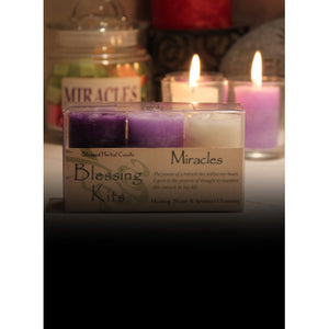 Miracles ~ Blessed Herbal Candles Blessing Kit