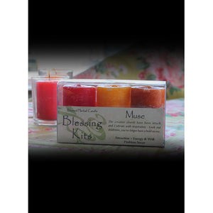 Muse Blessing ~ Blessed Herbal Candles Blessing Kit